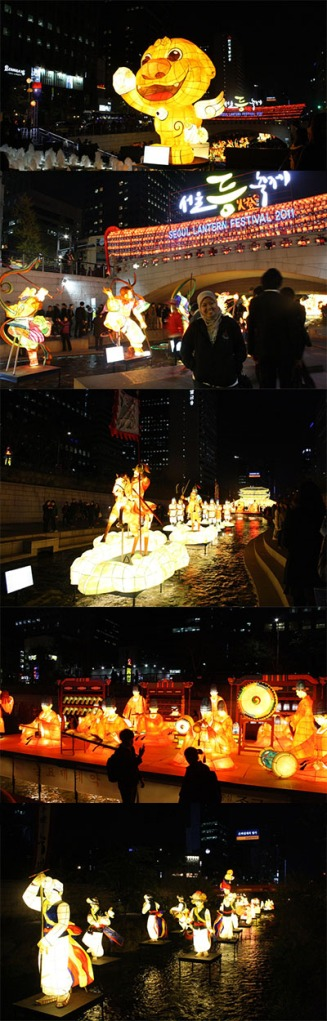 Korean Lantern Festival di Cheoggyecheon Stream